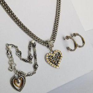 Brighton Gate of Love Silver & Gold Heart Jewelry